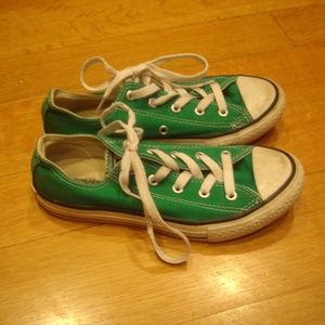 CONVERSE All Star (Youth Size 2) Green Sneakers